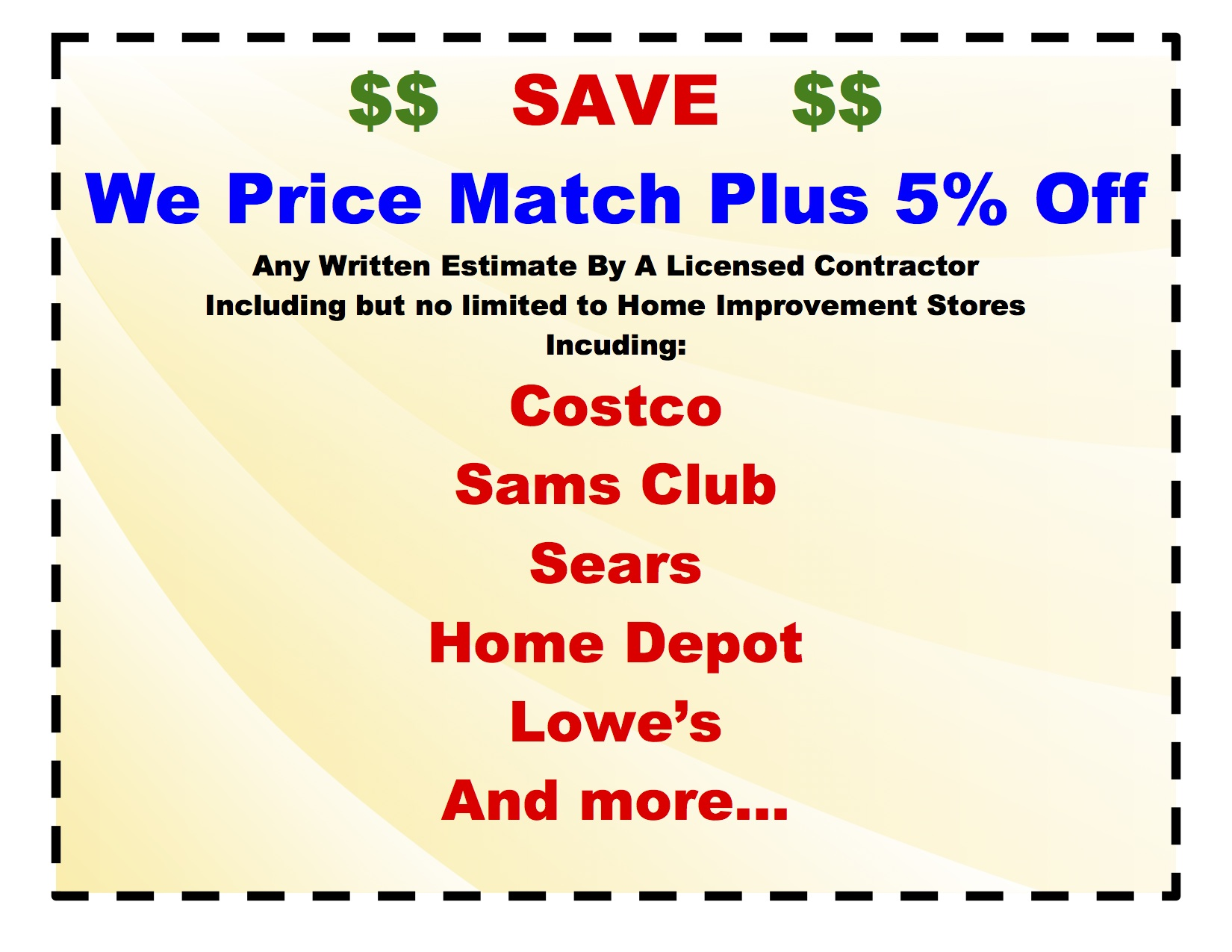 Price Match Coupon